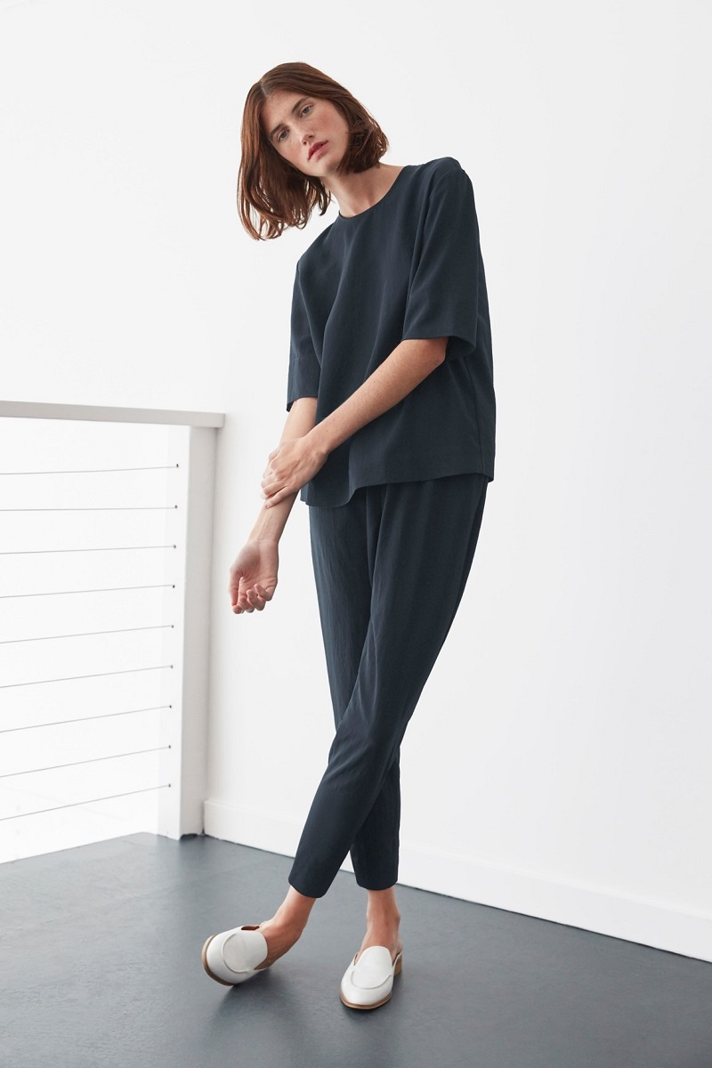 Everlane The Japanese GoWeave Back-Zip Tee