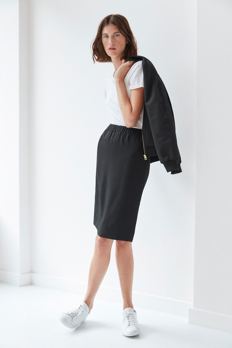 Everlane The Japanese GoWeave Pull-On Skirt