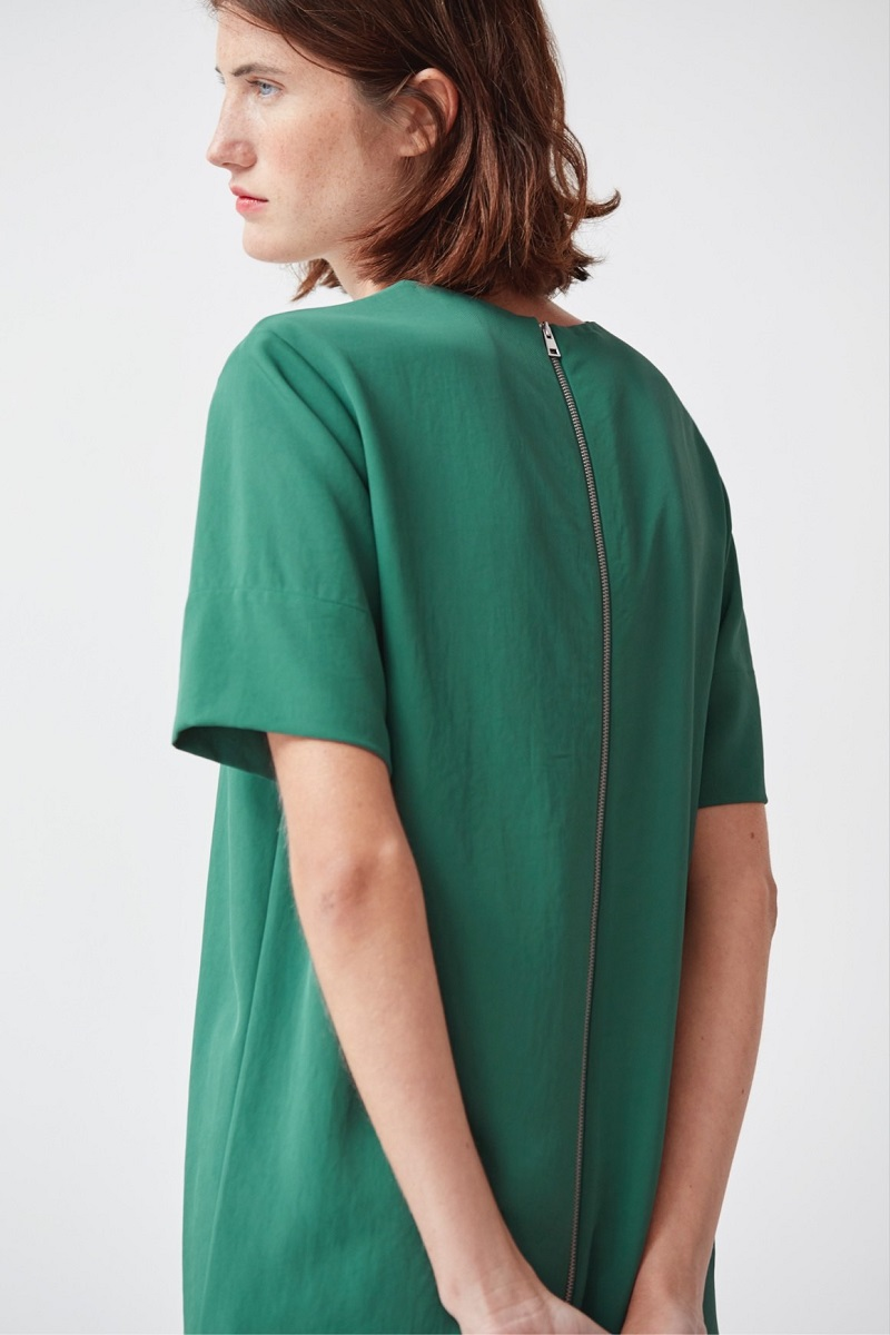 Everlane The Japanese GoWeave Zip Tee Dress-