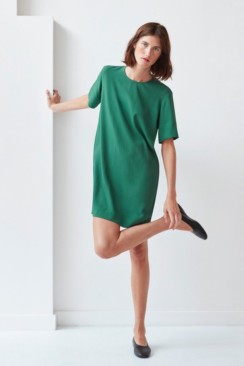 Everlane The Japanese GoWeave Zip Tee Dress