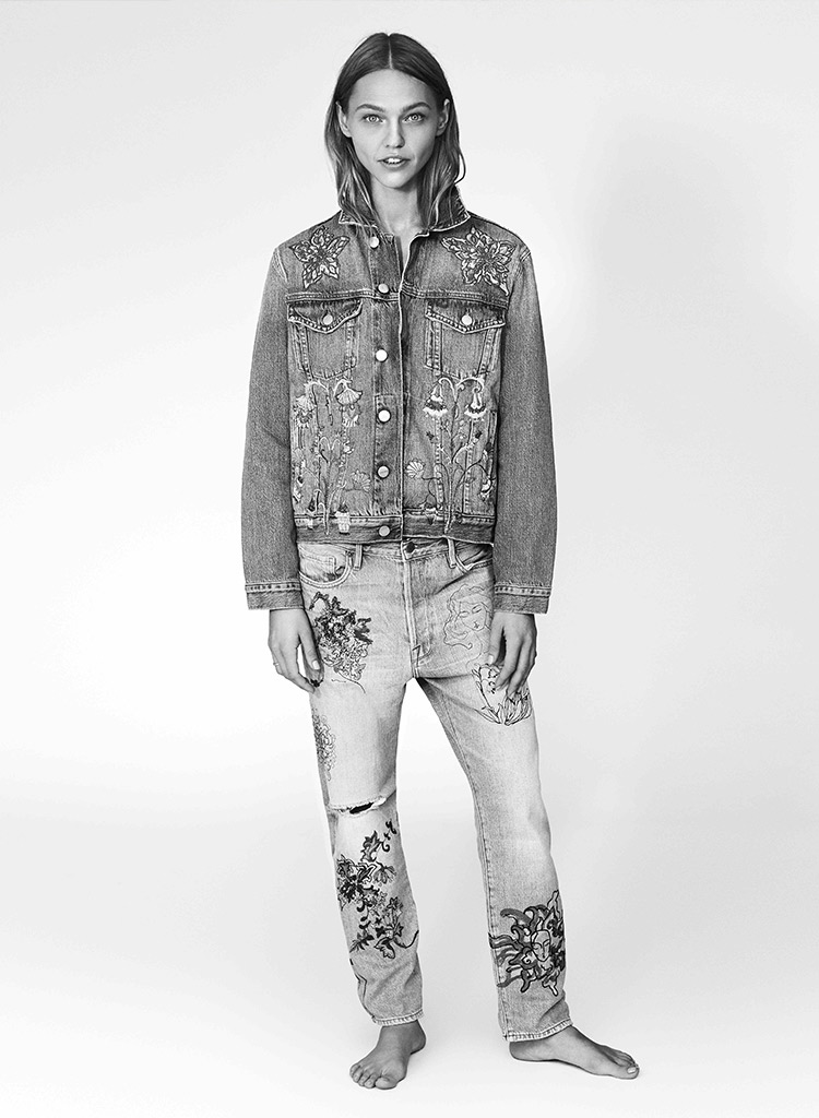 FRAME Sasha P Le Original Jeans in Bushwick--
