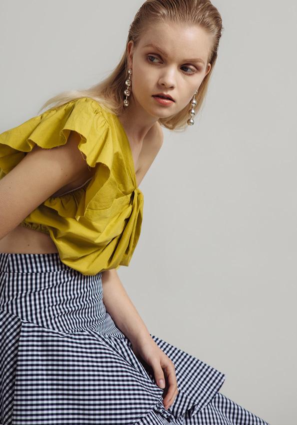 Farrow Gingham Ruffle Skirt