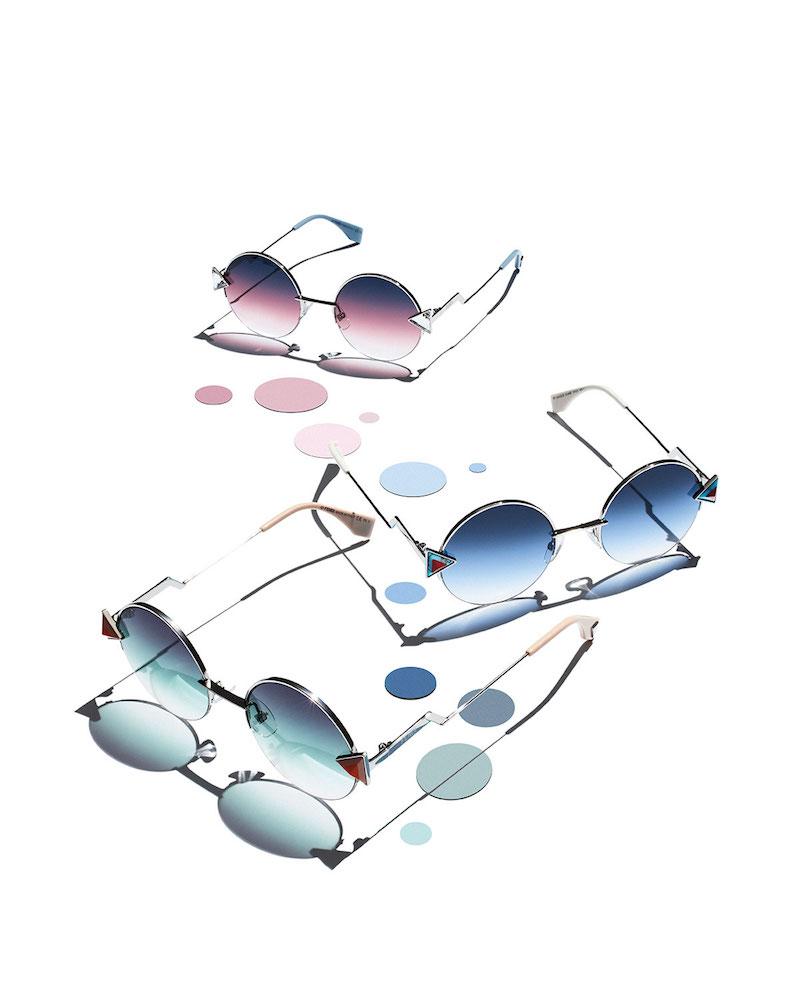 Fendi Rainbow Round Sunglasses