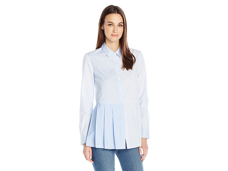 French Connection Ft Serge Stripe Button Down Top