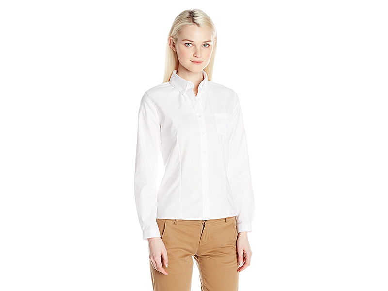 French Toast Long Sleeve Oxford Blouse