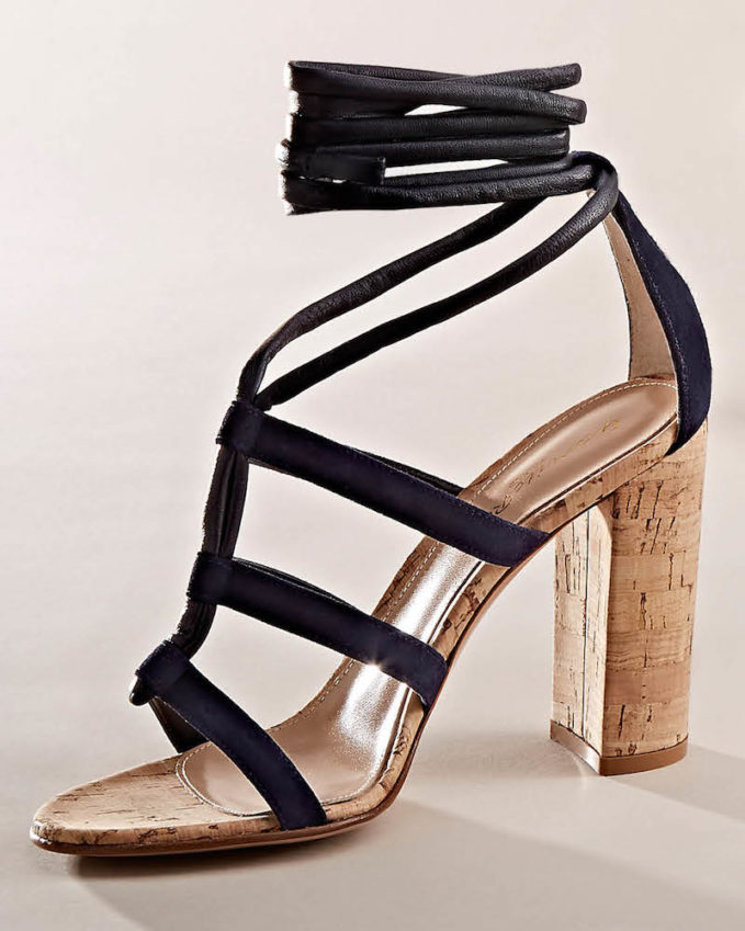 Gianvito Rossi Cayman Leather & Suede Ankle-Tie Sandals