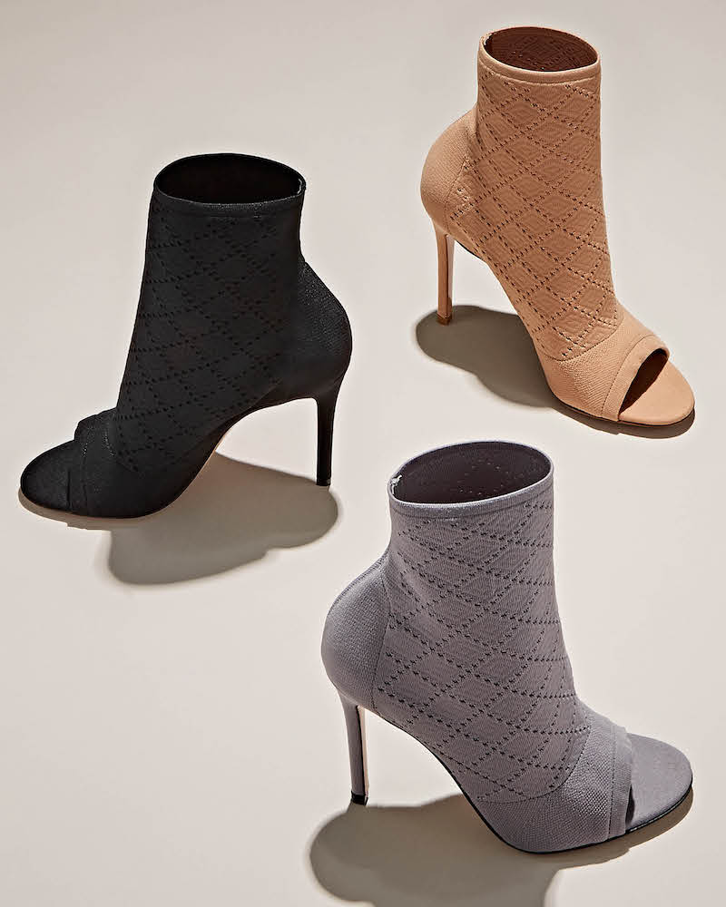 Gianvito Rossi Perforated Knit Ankle Boots