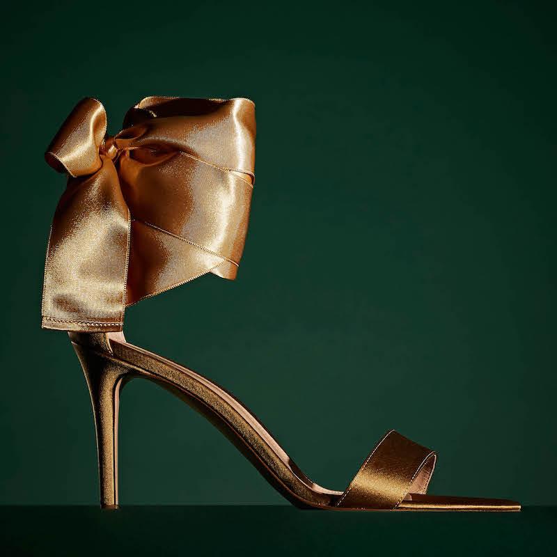 Gianvito Rossi Satin Ankle-Tie Sandals