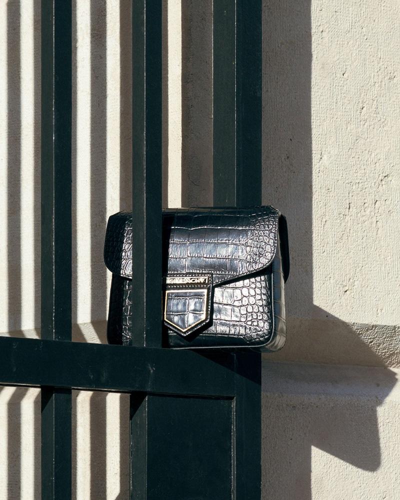 Givenchy Nobile Mini Crocodile-Embossed Shoulder Bag