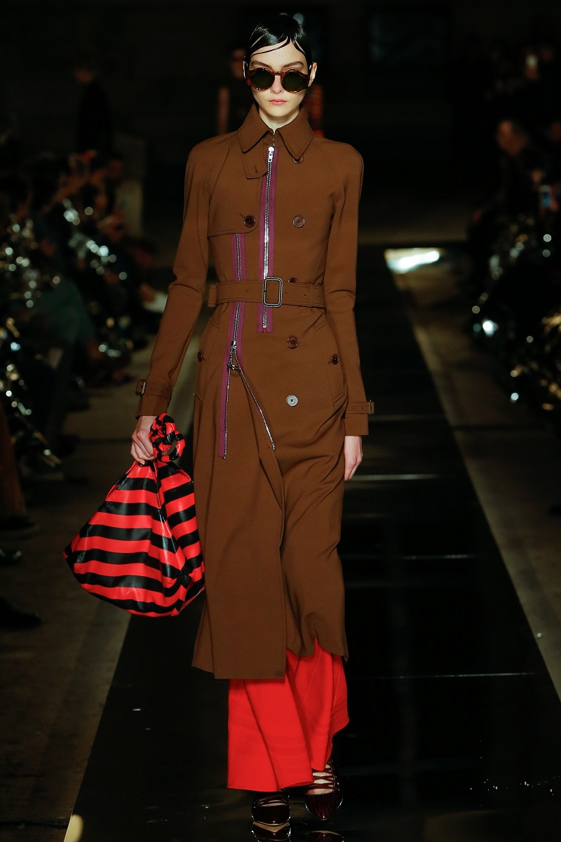 Givenchy Zip-Trim Long Belted Trenchcoat