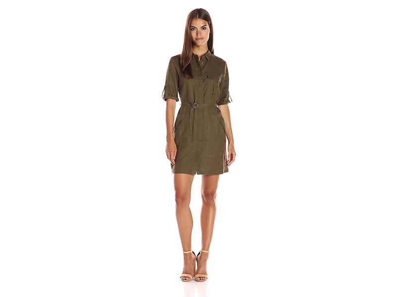 Greylin Elisa Linen Shirtdress
