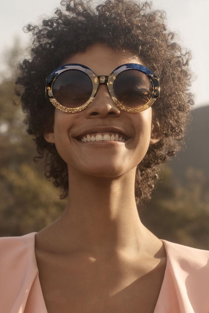 Gucci 51mm Round Sunglasses