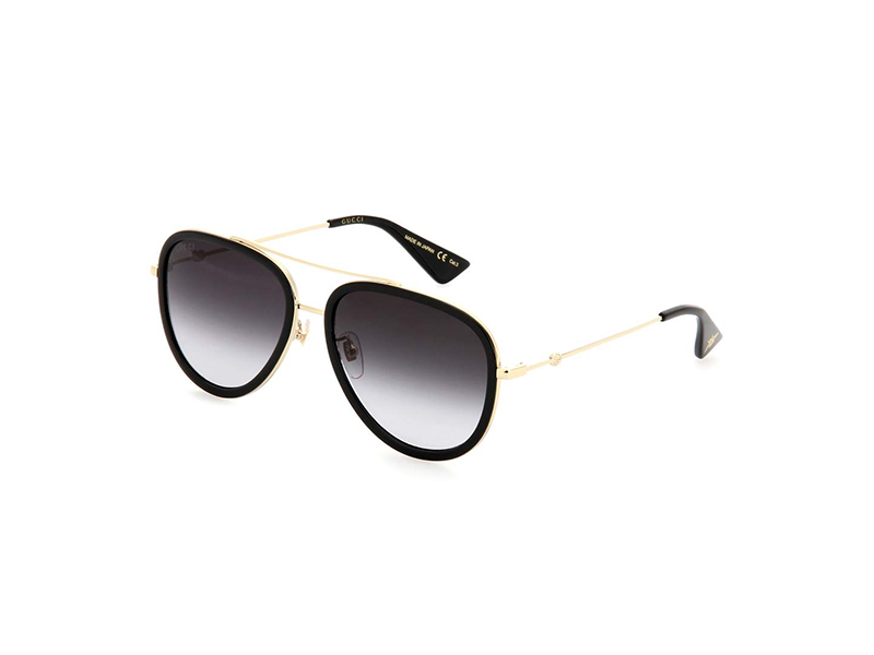 Gucci Black Framed Aviator Sunglasses