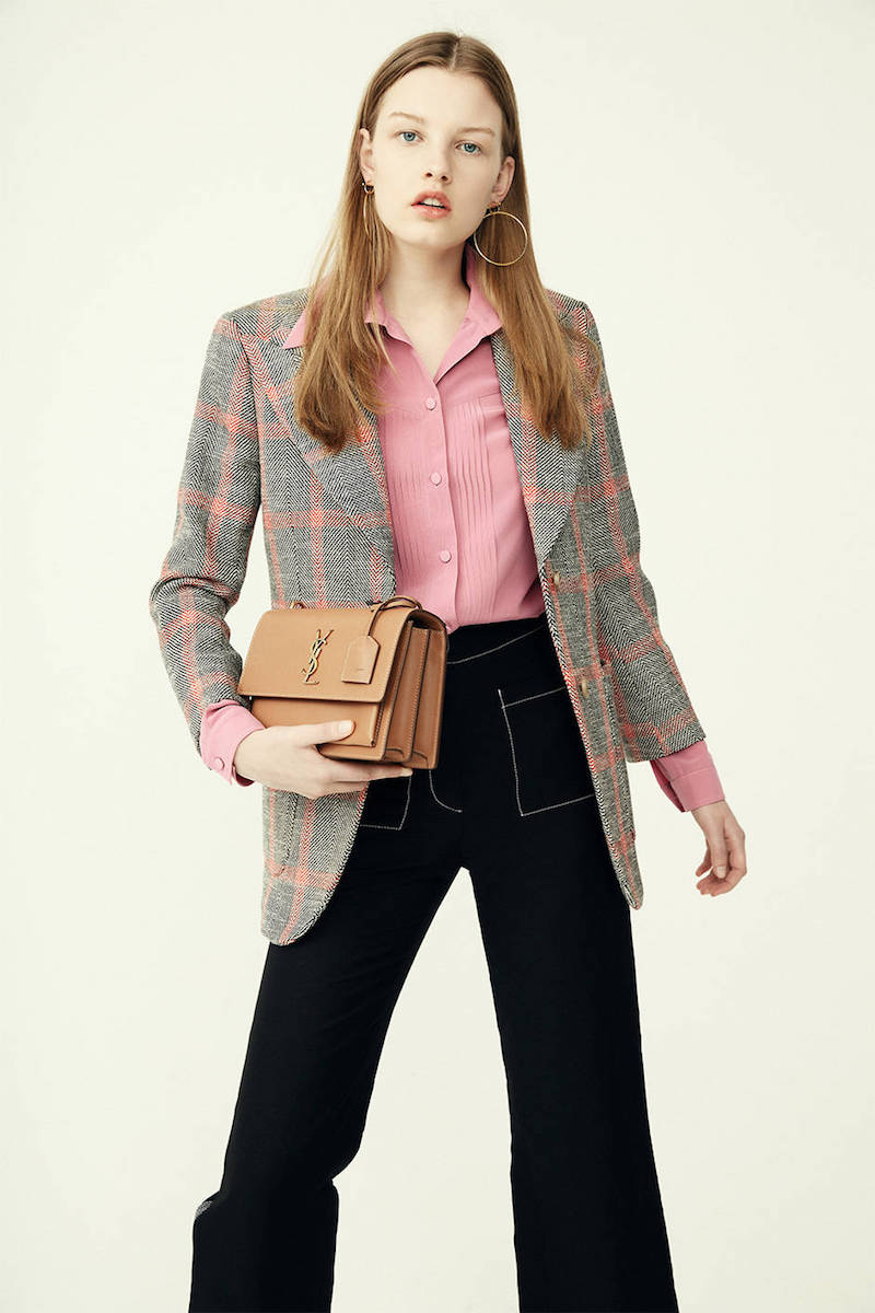 Gucci Silk Crepe Shirt with Pleated Detail