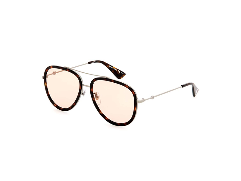 Gucci Tortoiseshell Framed Aviator Sunglasses