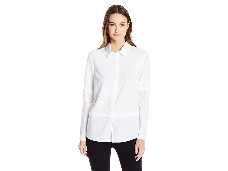 Guess Long Sleeve Annalisa Two-Fer Shirt