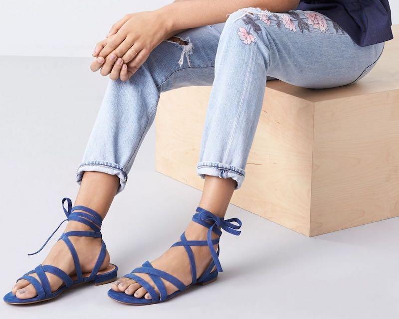Halogen Frances Ankle Wrap Sandal