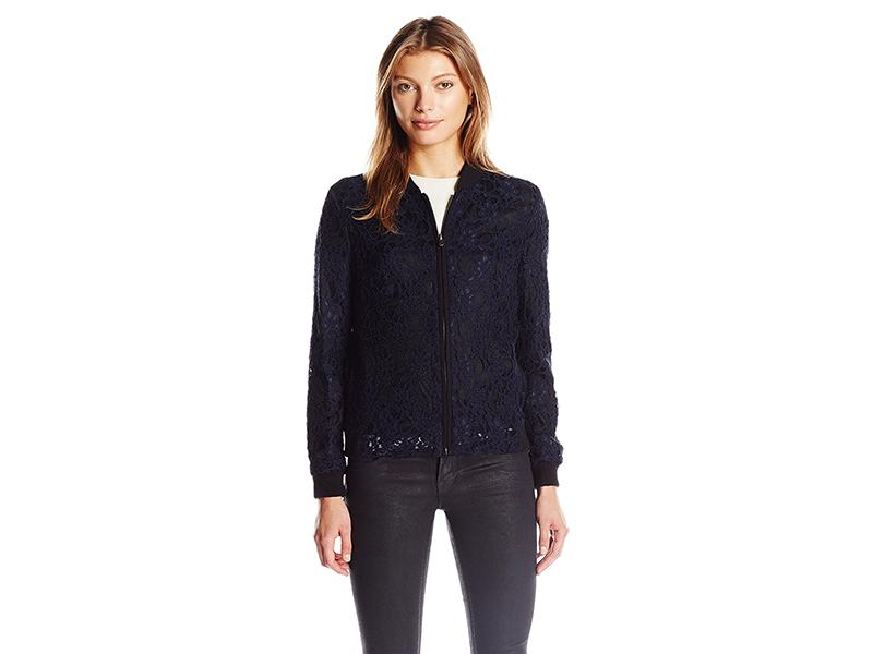 Helene Berman Lace Bomber Jacket