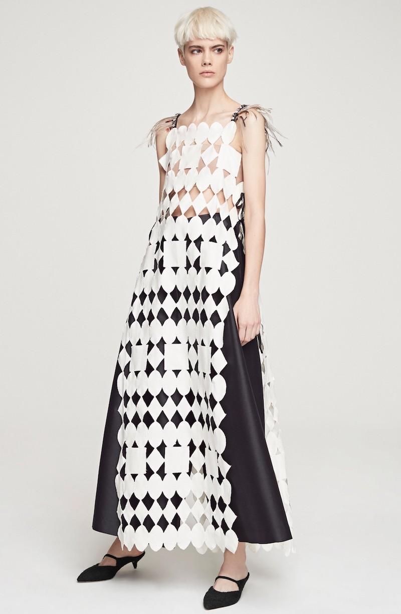 Isa Arfen Abstract Apron Dress