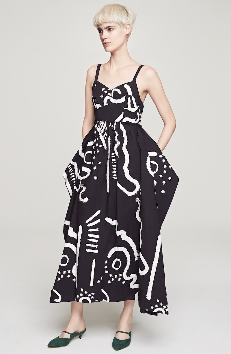 Isa Arfen Handkerchief Bustier Dress
