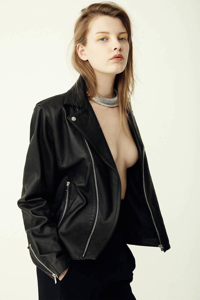 Isabel Marant Étoile Washed Leather Biker Jacket