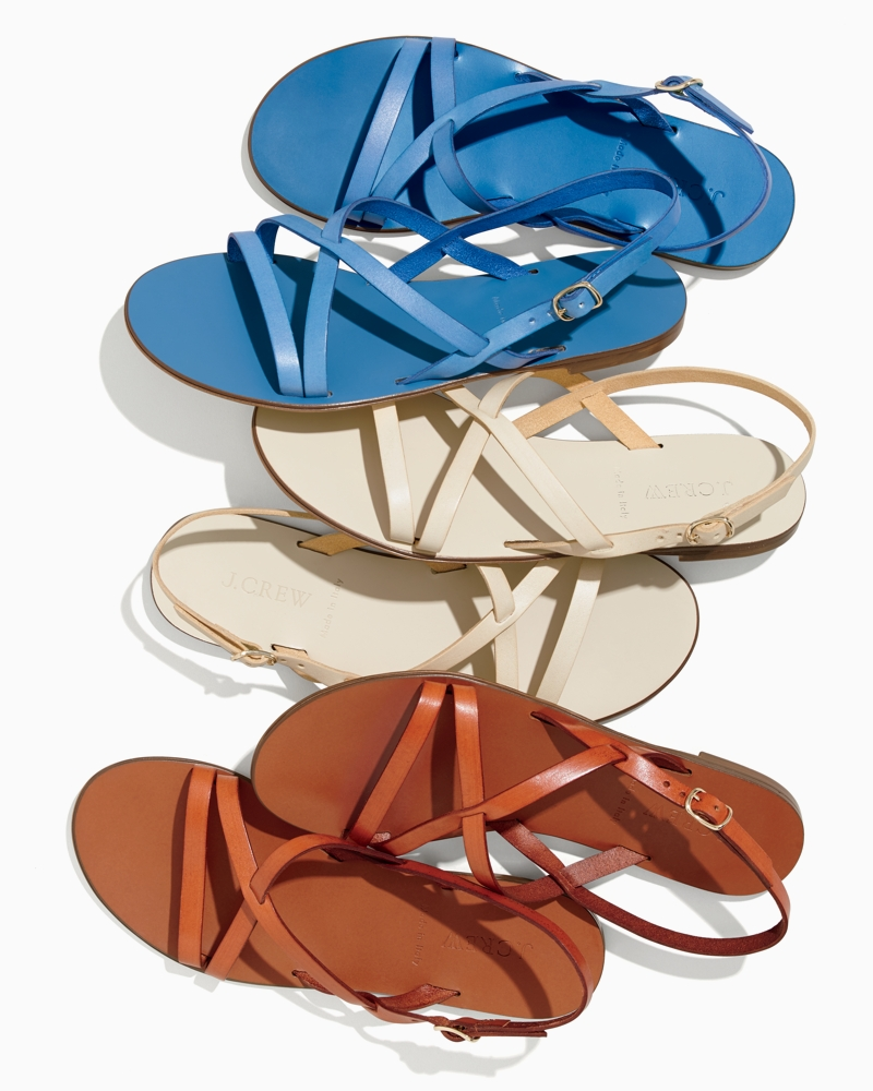 J.Crew Strappy Leather Sandals