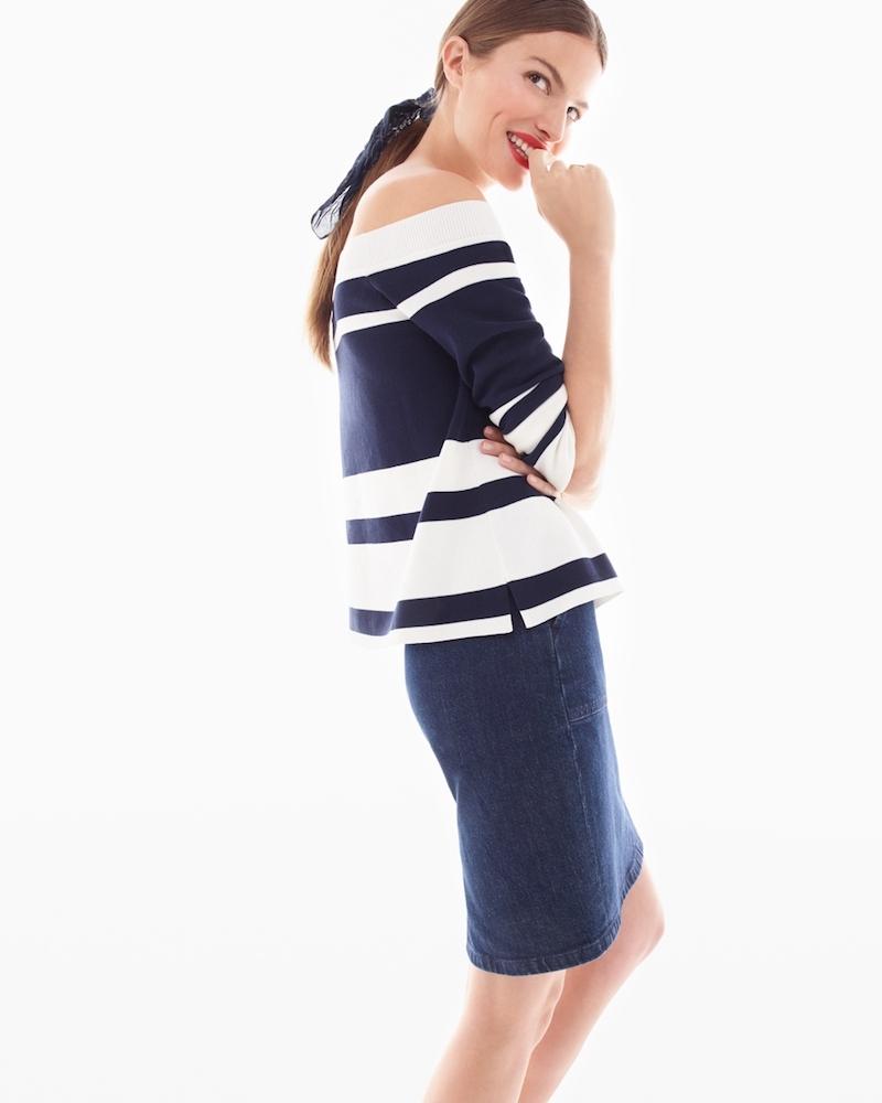 J.Crew Tie-Back Denim Skirt