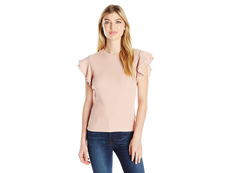 J.O.A. Ruffle Sleeve Top