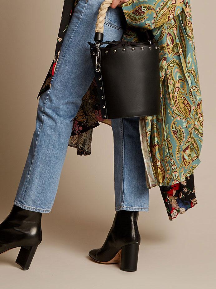 J.W.Anderson Bucket stud-embellished leather bag