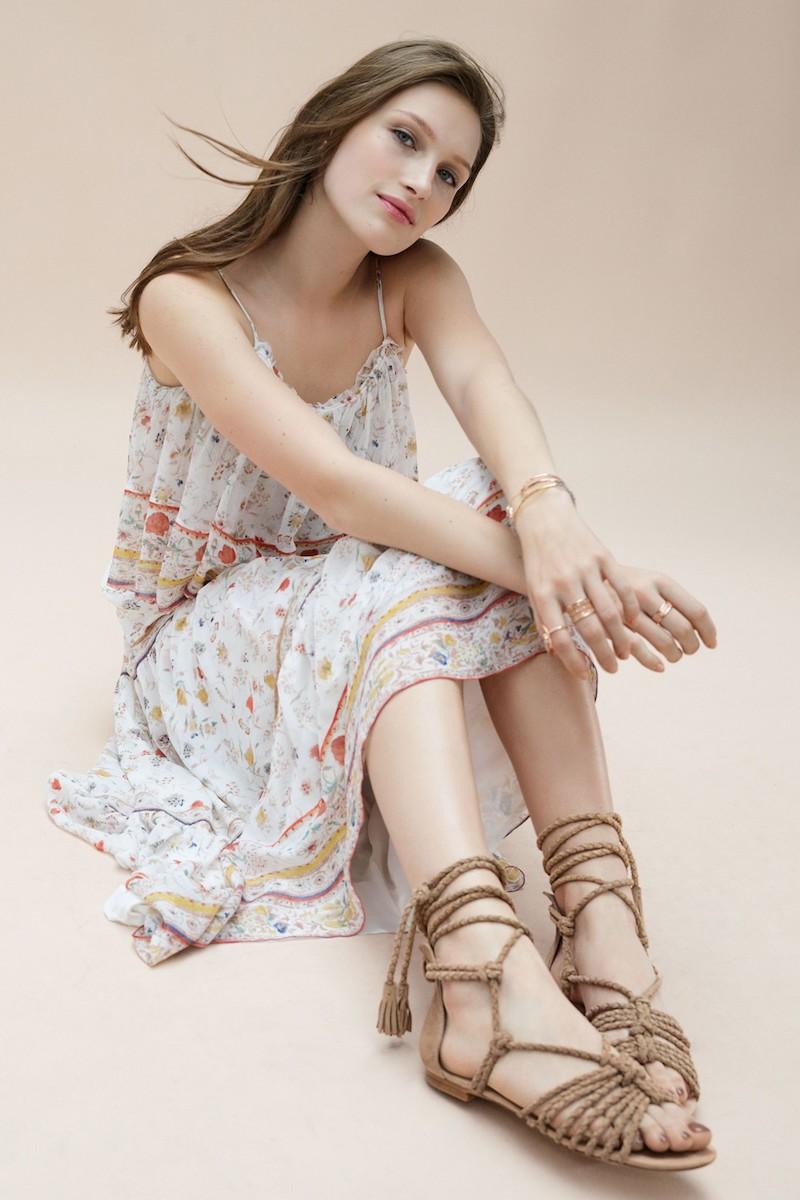 Joie Falk Ankle Wrap Sandal