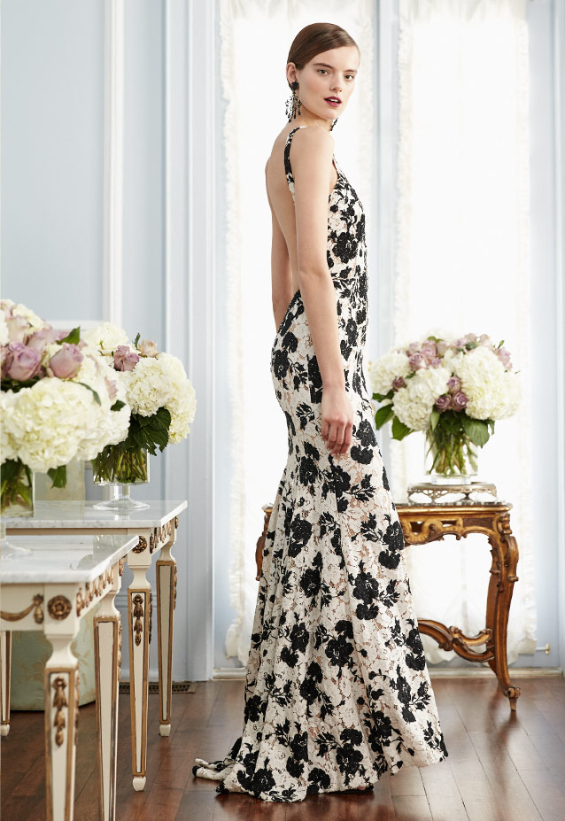 Jovani Embroidered Floral Lace Sleeveless Gown