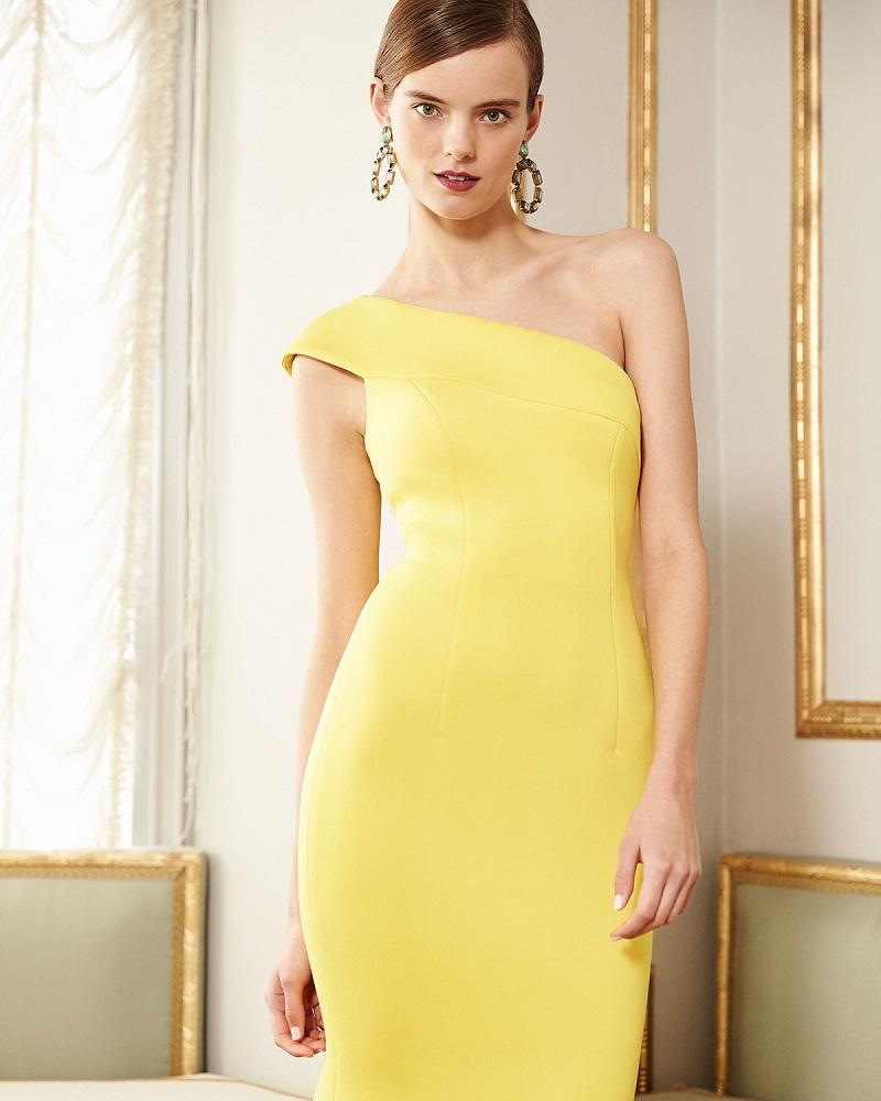 Jovani One-Shoulder Scuba Cocktail Dress