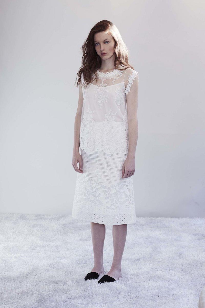 Kobi Halperin Mirabel A-line Cotton Eyelet Skirt