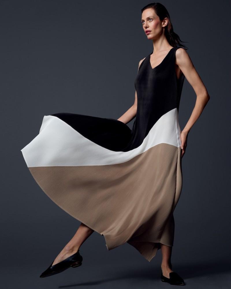 Lafayette 148 New York Celia Pleated Asymmetric Dress
