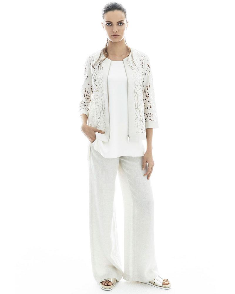 Lafayette 148 New York Lavish Embroidered Floral-Cutout Linen Jacket