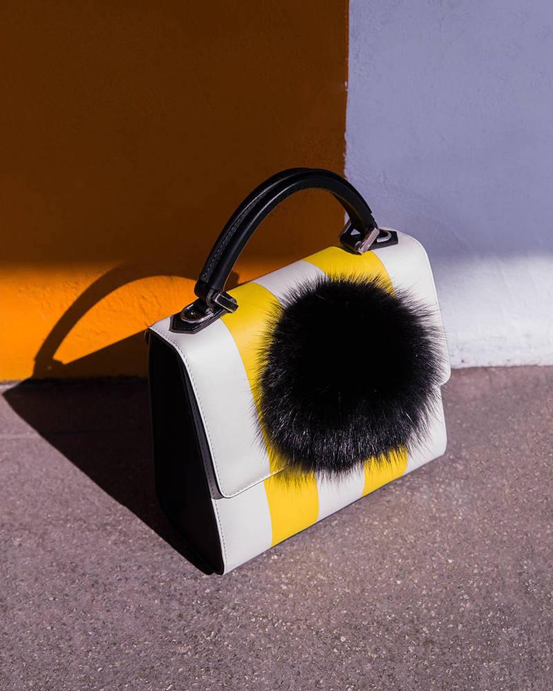 Les Petits Joueurs Mini Alex Bunny Leather Top Handle Bag