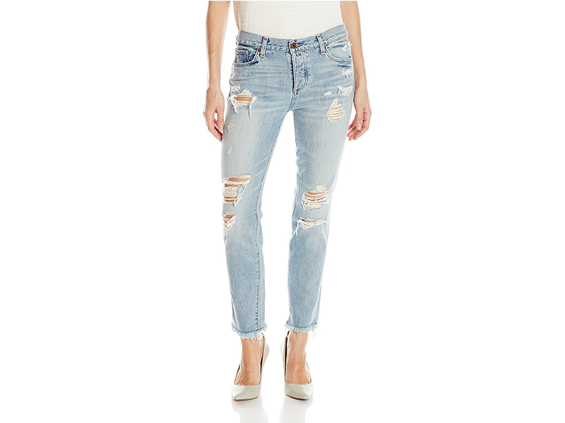 Lucky Brand Sienna Slim Destructed Boyfriend Jean