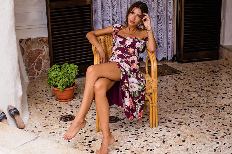 MAJORELLE Willow Midi Dress
