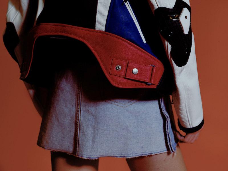 MM6 Maison Margiela Indigo Denim Inside Out Miniskirt