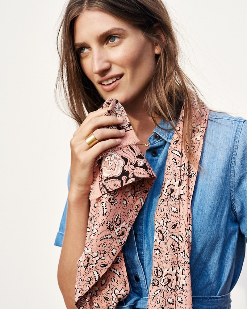 Madewell Assam Floral Scarf