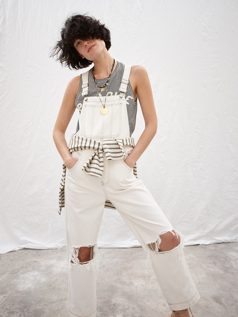 Madewell x Where I Was From Crop Overalls