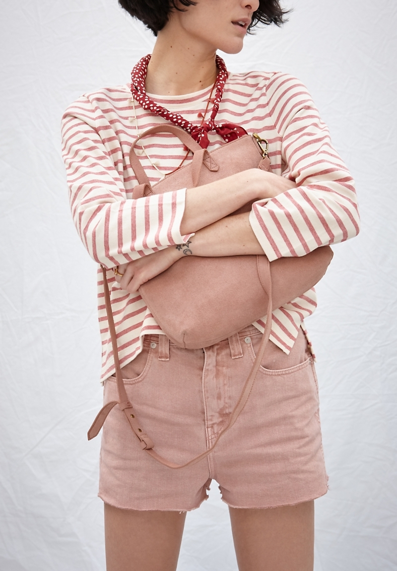 Madewell x Where I Was From High-Rise Jean Shorts in Gentle Blush