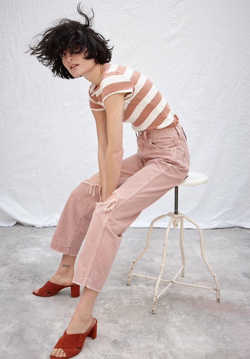 Madewell x Where I Was From Slim Straight Crop Jeans