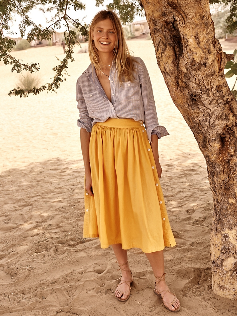 Madewell Side-Button Skirt