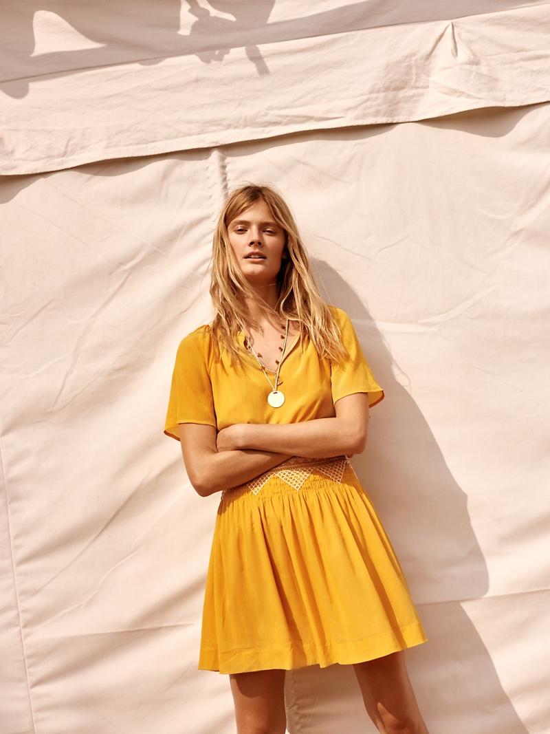 Madewell Smocked Mini Dress