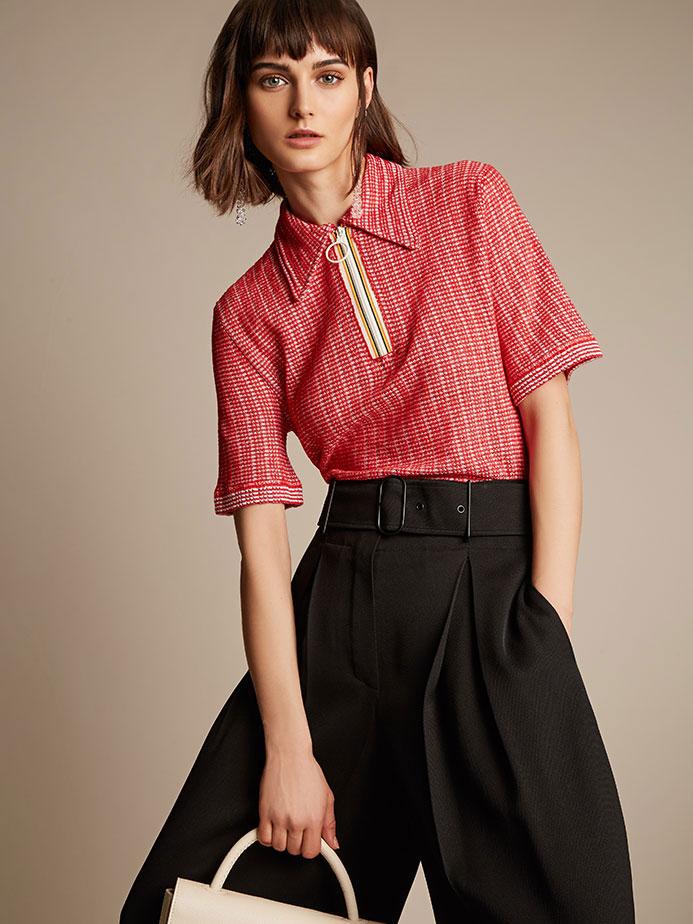 Maison Margiela Linen and cotton-blend textured top