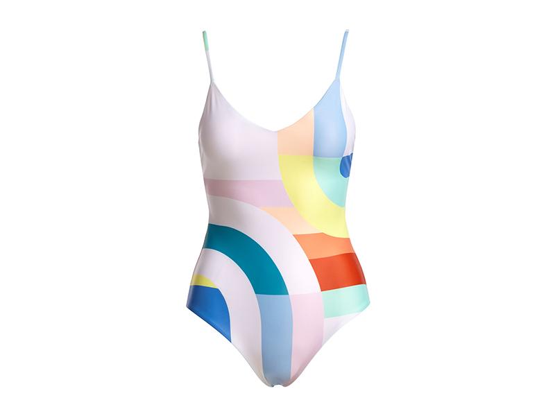 Mara Hoffman Classic V-Neck One-Piece Swimsuit
