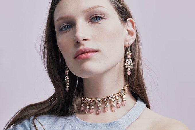 Marchesa Sheer Bliss Cluster Drop Earrings