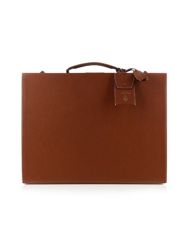 Mark Cross Grace 50cm grained-leather trunk