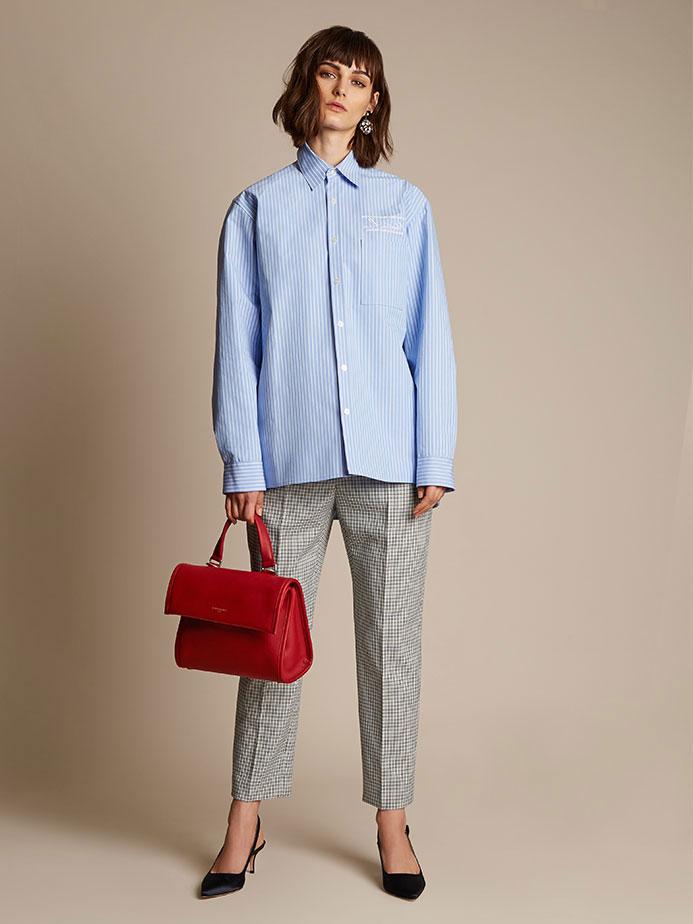 Martine Rose Oversized striped bonded-cotton shirt